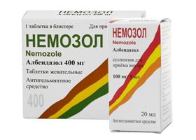 Немозол при лямблиозе: инструкция по применению и схема лечения, эффективность терапии